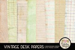 Vintage Scrapbook Papers - Vintage Desk Papers Backgrounds Product Image 1
