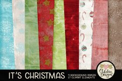 Christmas Digital Scrapbook Kit - Christmas Clipart Product Image 2