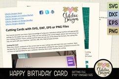 Happy Birthday Card SVG - Argyle Birthday Card Cutting File Product Image 5