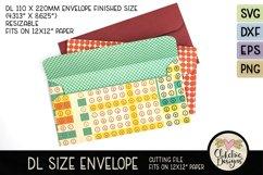 Slimline Envelope SVG - DL Envelope Cutting File Product Image 2