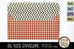 Slimline Envelope SVG - DL Envelope Cutting File Product Image 4