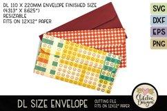 Slimline Envelope SVG - DL Envelope Cutting File Product Image 1