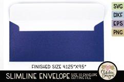 Slimline Envelope SVG - Size 10 Envelope Cutting File Product Image 2