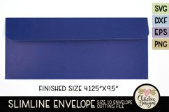 Slimline Envelope SVG - Size 10 Envelope Cutting File Product Image 3