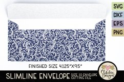 Slimline Envelope SVG - Size 10 Envelope Cutting File Product Image 4
