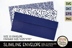 Slimline Envelope SVG - Size 10 Envelope Cutting File Product Image 1