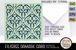 Filigree Damask Card SVG - Filigree DamaskCard Cutting File Product Image 6
