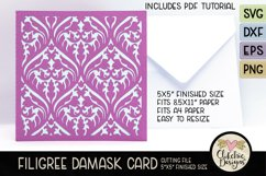 Filigree Damask Card SVG - Filigree DamaskCard Cutting File Product Image 5