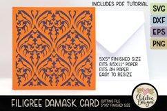 Filigree Damask Card SVG - Filigree DamaskCard Cutting File Product Image 4
