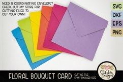 Floral Bouquet Card SVG - Floral Bouquet Card Cutting File Product Image 4