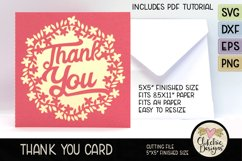 Thank You Card SVG - Floral Wreath Thank You Card SVG Product Image 4