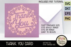 Thank You Card SVG - Floral Wreath Thank You Card SVG Product Image 3