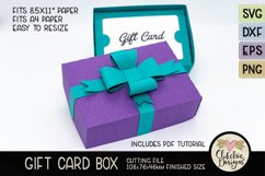 Gift Card Box SVG Cutting File - Gift Card Box with Bow Product Image 3
