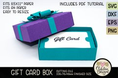 Gift Card Box SVG Cutting File - Gift Card Box with Bow Product Image 2