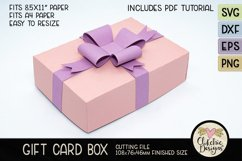 Gift Card Box SVG Cutting File - Gift Card Box with Bow Product Image 4