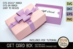 Gift Card Box SVG Cutting File - Gift Card Box with Bow Product Image 5