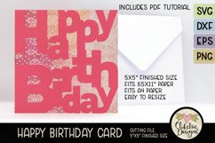 Happy Birthday Card SVG - Lettered Birthday Card Cutting Fil Product Image 4