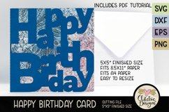 Happy Birthday Card SVG - Lettered Birthday Card Cutting Fil Product Image 6