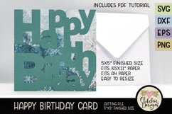 Happy Birthday Card SVG - Lettered Birthday Card Cutting Fil Product Image 5
