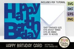 Happy Birthday Card SVG - Lettered Birthday Card Cutting Fil Product Image 1
