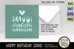 Happy Birthday Grandma Card SVG - Grandma Birthday Card SVG Product Image 2