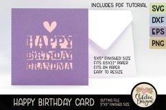 Happy Birthday Grandma Card SVG - Grandma Birthday Card SVG Product Image 1