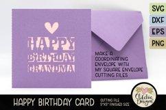 Happy Birthday Grandma Card SVG - Grandma Birthday Card SVG Product Image 3