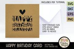Happy Birthday Gandpa Card SVG - Grandpa Birthday Card SVG Product Image 4