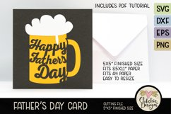 Happy Father's Day Card SVG - Beer Father's Day Card SVG Product Image 3