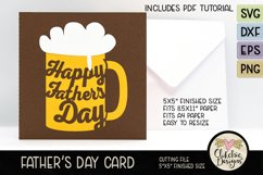 Happy Father's Day Card SVG - Beer Father's Day Card SVG Product Image 1
