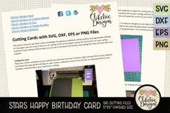 Happy Birthday Card SVG - Stars Birthday Card Cutting File Product Image 3
