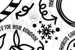 Santa Plate SVG | Christmas / Winter Round Design Product Image 5