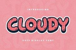 Web Font Cloudy Font Product Image 1