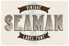 Seaman Label Font Product Image 5
