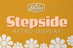 Stepside   Retro Display Font Product Image 1
