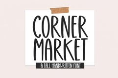 Corner Market - Tall Handwritten Font Product Image 1