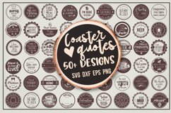 Coaster quotes bundle over 50 designs Product Image 1