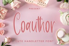 Coauthor - Cute Handletter Font Product Image 1