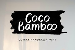 Web Font Coco Bamboo - Quirky Handrawn Font Product Image 1