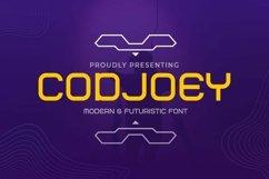 Web Font Codjoey - Modern Display Font Product Image 1