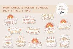 Coffee sticker Bundle | Caffeine Printable Stickers Product Image 1