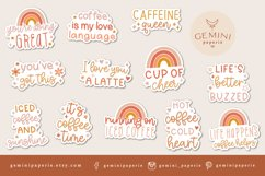 Coffee sticker Bundle | Caffeine Printable Stickers Product Image 2
