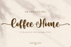 Coffee Home | An Elegant Calligraphy Font Product Image 1