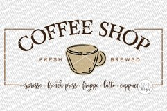 Coffee Shop SVG | Farmhouse Coffee Bar Sign | DXF and More Product Image 2