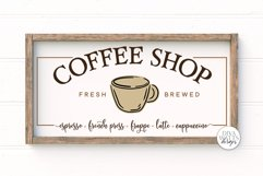 Coffee Shop SVG | Farmhouse Coffee Bar Sign | DXF and More Product Image 1