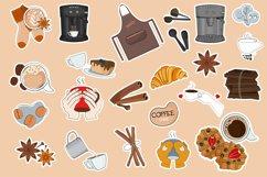Coffee printable stickers bundle PNG, EPS, JPG. Product Image 2