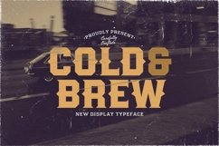 Web Font Cold and Brew Product Image 1