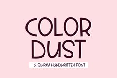 Color Dust - a fun quirky handwritten font Product Image 1