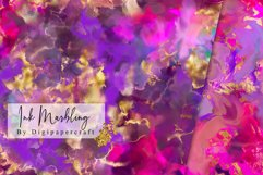 Colorful Marble Digital Paper, Ink Marbling, digital marble Product Image 4