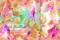 Colorful Marble Digital Paper, Ink Marbling, digital marble Product Image 2